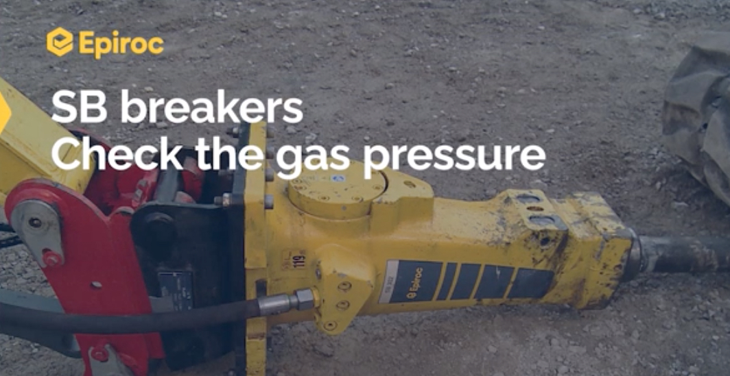 How to Check the Gas Pressure Epiroc SB Breakers