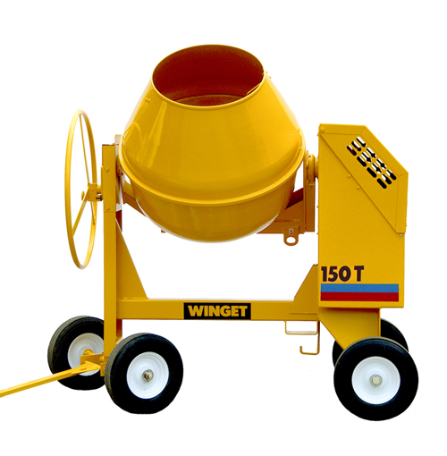 WINGET 150T HAND FED TILTING DRUM MIXER